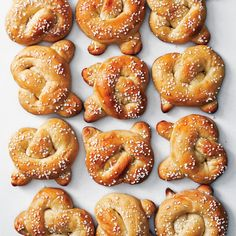 Swedish pearl sugar         stands in for coarse salt in this         sweet take on the soft pretzel.