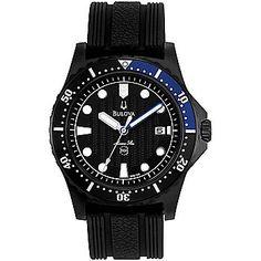 Bulova 44mm Marine Star Quartz Date Stainless Steel Strap Watch