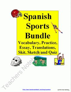 Spanish Sports Bundle - Vocabulary, Practice, Skits, Quiz and More! product from Sue-Summers on TeachersNotebook.com