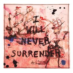 I Will Never Surrender pocket square by Age of Reason