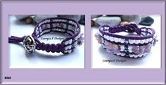 Purple suede beaded cuff with Amethyst Chips made on a homemade loom. http://georgiapdesigns.wordpress.com/2013/01/25/beaded-cuff-update/