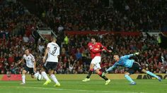 Fellaini puts it easily into the back of the net in the last seconds of friendly against Valencia, in 2-1 win.