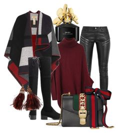 """Winter II"" by beatricechan ❤ liked on Polyvore featuring Marc Jacobs, Yves Saint Laurent, Burberry, Gucci and Louis Vuitton"