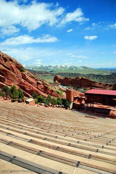 Red Rocks Amphitheatre ・ I took this photo when i went to Denver, Colorado.  This view is breath taking and would definitely come back!