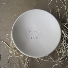 I LOVE YOU ceramic bowl | Paloma's Nest