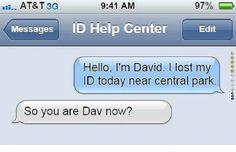I lost my ID