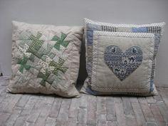 Quilt Studio het Gooi patchwork quilt kussen linnen Twister patroon workshop