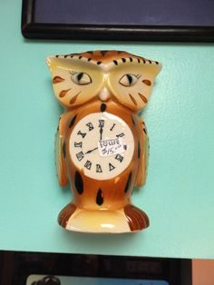 Vintage Made In Japan Owl Wall Hanging Planter by BarbiesDoll