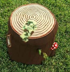 Wool Forest Theme Tree Stump Mushroom Nursery Ottoman: Everybody needs a tree stump featured in their enchanted forest nursery decor especially if it's as cute as this one that Jessica the INSANELY CRAFTY mommy Nursery Themes, Room Themes, Nursery Room, Girl Nursery, Baby Room, Nursery Decor, Nursery Ideas, Themed Nursery, Bedroom Decor