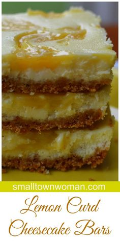 These Lemon Curd Cheesecake Bars are so yummy that you are going to need to pace yourself or you will find that you just consumed three to four of them.