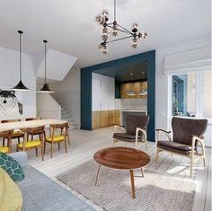 Farbe als Wandgestaltung in der Einrichtung - ungewöhnliche Ideen für die Küche