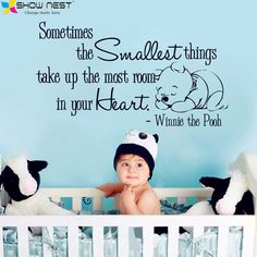 "Winnie the Pooh Decals Qinnie, Quotes Wall Sticker "" Sometimes...""Baby Nursery Bedroom Wall Art Decor Fashion Home Decoration"