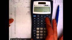 TI 30X IIS for Data: Mean, Standard Deviation, Variance