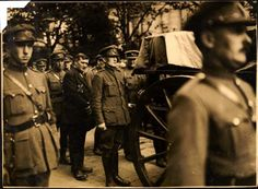 Sean Collins behind the coffin of his brother Michael