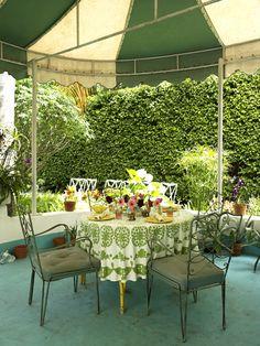 Gene Meyer Miami home outdoor dining area #outdoor. Doug and Gene Meyer Studio