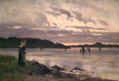 Coucher de soleil sur la baie . Frithjof Smith-Hald. 1890