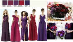 Dark red and purple Wedding