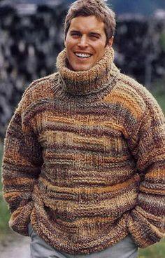 Hombres de cuello jersey realizado a pedido de la mano a Hand Knitted Sweaters, Mohair Sweater, Wool Sweaters, Men Sweater, Sweater Cardigan, Black Cardigan, Dandy, Hand Knitting, Knitwear