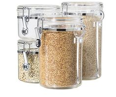 Canister Set with Airtight Lids | Easy Kitchen Decor Ideas for the Home | Dollar Store Kitchen Decor Projects & Hacks