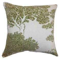 To go on tan chairs in family room Juara Tree Pillow Fern