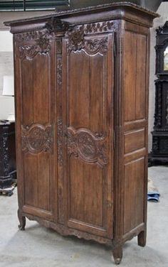 Beautiful Hand-carved Antique Armoire With Mirror—dutch Scene. Armoires & Wardrobes