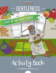 Gentleness - Fruit of the Spirit activities for kids Bible Crafts For Kids, Bible Lessons For Kids, Kids Bible, Bible Activities, Activities For Kids, Adventure Bible, Learn Hebrew, Fun Worksheets, Fruit Of The Spirit