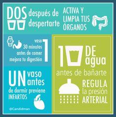 #agua #controlar apetito #dieta #nutritivo #salud #saludable #receta #nutricion #alimentacion #infografia #beneficios