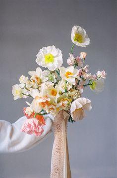 Daffodil Wedding, Pastel Bouquet, Spring Bouquet, Floral Wedding, Wedding Flowers, Bridesmaid Bouquet, Wedding Bouquets, Ribbon Bouquet, Bouquets