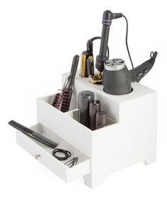 This White Personal Bathroom Organizer & Power Strip is perfect! #zulilyfinds