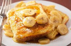 My mom used to make this delicious version of French toast for breakfast when I was growing up as a great alternative for getting rid of overripe bananas.  It makes regular French toast seem bland in comparison!