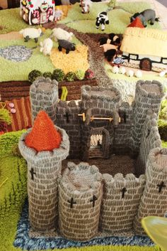 Fantasy Land - The Knitted Farmyard Rug and Castle scene.: June 2013