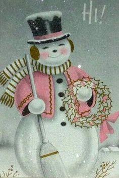 Love these Vintage Snowmen.