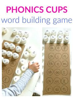 Phonics for kids - Phonics Cups Literacy Game – Phonics for kids Reading Games For Kids, Games For Kids Classroom, Phonics For Kids, Word Games For Kids, Group Games For Kids, Educational Games For Kids, Educational Software, Music Classroom, Educational Toys