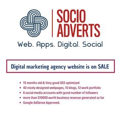 SocioAdverts is an emerging digital marketing agency from India. check our wide range of digital marketing & Web application development services Now. Social Media Marketing Books, Social Media Site, Content Marketing, Digital Marketing, Web Application Development, Online Advertising, Online Business, Learning, Website
