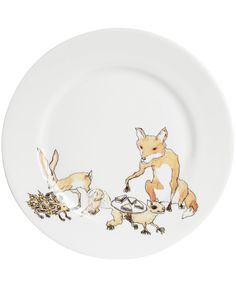 Animal Tea Party Side Plate