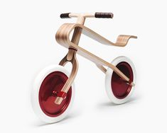 Brum brum wooden balance bike for kids - oak finish - Baby Candy Apple Red, Red Candy, Balance Bicycle, Journal Du Design, Tubeless Tyre, Mini Cooper, Decoration Design, Red Oak, Coups