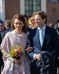 Princess Aimee of The Netherlands and Prince Floris of the Netherlands attend King's Day (Koningsdag), the celebration of the birthday of the Dutch King, on April 27, 2016 in Zwolle, Netherlands.