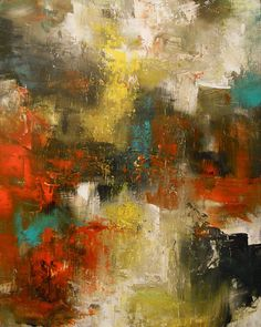 oil painting art paintings abstract Original thick by mattsart