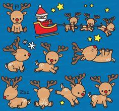 Haut de gamme Vector Clipart Rudolph les renne au nez rouge