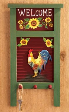 Love The Rustic Charm Of This Rooster And Sunflower Kitchen Decor. | Decor  For My Home | Pinterest | Sunflower Kitchen Decor, Sunflower Kitchen And  Kitchen ...