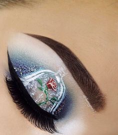 Beauty and the Beast Makeup mit Mehron … - Makeup Products Fenty Makeup Eye Looks, Eye Makeup Art, Beautiful Eye Makeup, Crazy Makeup, Cute Makeup, Pretty Makeup, Hair Makeup, Disney Eye Makeup, Disney Inspired Makeup