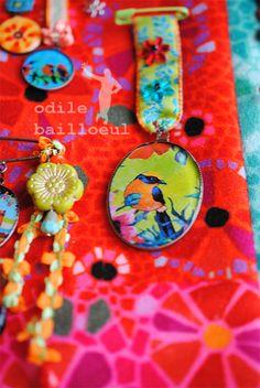 """Retrouvez ici l'univers poétique d'Odile Bailloeul... Travail d'atelier, actualité des créations, aperçu de Souris-ville : """"Le work in progress """"de cette designer textile fantaisiste qui vous invite dans son monde coloré !"""