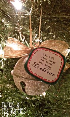 Tutus and Tea Parties: DIY Ornament | Polar Express Inspired Bell