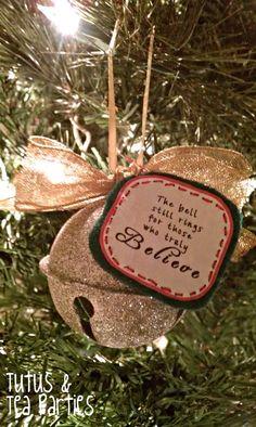 Tutus and Tea Parties: DIY Ornament | Polar Express Inspired Bell