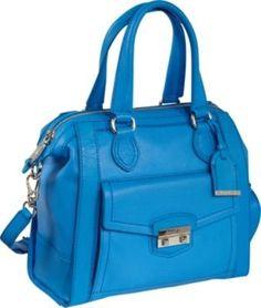 Zoe Small Structured Satchel Blue Topaz