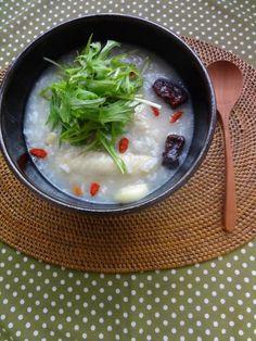 鶏の薬膳スープ粥