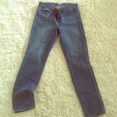 JCrew jeans Medium wash jeans size 29.   I believe it is a straight leg fit.  Previously worn but in excellent condition J. Crew Pants Straight Leg