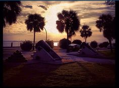 Sunset at The Battery, Charleston SC
