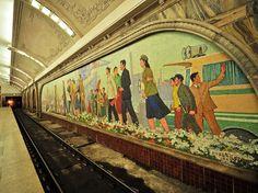 Pyongyang Subway Station, Democratic People's Republic of Korea