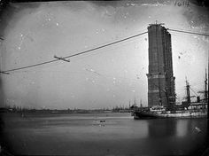 Construction of Brooklyn Bridge
